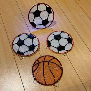 4 PACK 🚨 Soccer Basketball Earrings Holder/Stand